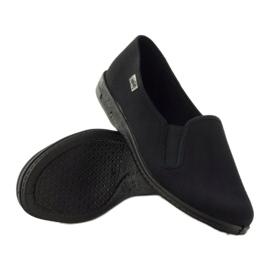 Black slip-on papuci Befado 001M060 negru 3