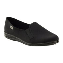 Black slip-on papuci Befado 001M060 negru 1