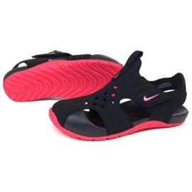 Sandale Nike Sunray Protect 2 (PS) Jr 943826-003 negru roz 1