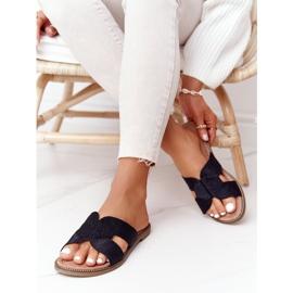 Papuci de damă eleganți S.Barski Negru 1