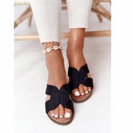 Papuci de damă eleganți S.Barski Negru 3