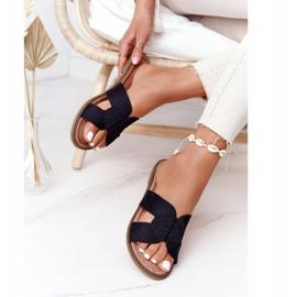 Papuci de damă eleganți S.Barski Negru 2