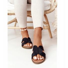 Papuci de damă eleganți S.Barski Negru 4