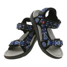 Sandale încălțăminte pentru copii insert din spumă Lee Cooper 20S-TS-037-1 negru albastru gri 3