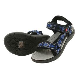 Sandale încălțăminte pentru copii insert din spumă Lee Cooper 20S-TS-037-1 negru albastru gri 2
