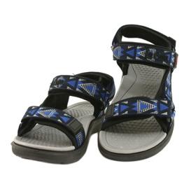 Sandale încălțăminte pentru copii insert din spumă Lee Cooper 20S-TS-037-1 negru albastru gri 1
