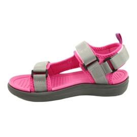 Sandale fete pantofi Lee Cooper 20S-TS-031 insertie din spumă roz gri 1