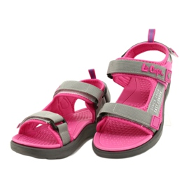 Sandale fete pantofi Lee Cooper 20S-TS-031 insertie din spumă roz gri 2