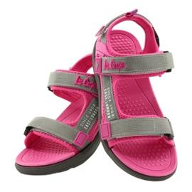 Sandale fete pantofi Lee Cooper 20S-TS-031 insertie din spumă roz gri 5