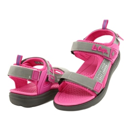 Sandale fete pantofi Lee Cooper 20S-TS-031 insertie din spumă roz gri 3
