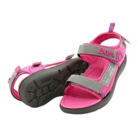 Sandale fete pantofi Lee Cooper 20S-TS-031 insertie din spumă roz gri 4