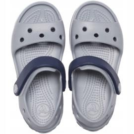 Sandale Crocs pentru copii Crosband Sandal Kids gri-bleumarin 12856 01U albastru marin 1