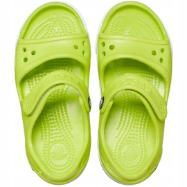 Sandale Crocs pentru copii Crocband Ii Sandal lime-black 14854 3T3 verde 1