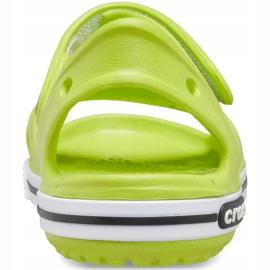 Sandale Crocs pentru copii Crocband Ii Sandal lime-black 14854 3T3 verde 2