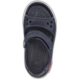 Sandale Crocs pentru copii Crocband Ii Sandal bleumarin-alb 14854 462 albastru marin 1