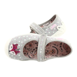Balerini pentru fete BLANCA BEFADO 114X425 alb roz gri 4