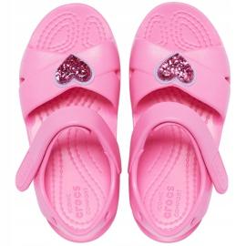 Sandale pentru copii Crocs Classic Cross Strap Charm roz 206947 669 1
