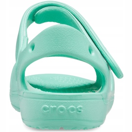 Sandale pentru copii Crocs Classic Cross Strap Charm mint 206947 3U3 verde 2
