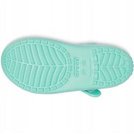 Sandale pentru copii Crocs Classic Cross Strap Charm mint 206947 3U3 verde 3