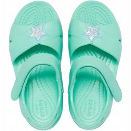 Sandale pentru copii Crocs Classic Cross Strap Charm mint 206947 3U3 verde 1