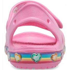 Sandale pentru copii Crocs Fun Lab Rainbow roz 206795 669 2