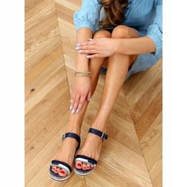 Sandale bleumarin pe pene A89832 Albastru 2