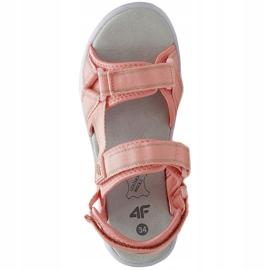 Sandale pentru fete 4F roz deschis HJL21 JSAD001 56S 1