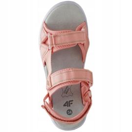 Sandale 4F Jr HJL21 JSAD001 56S negru roz 1