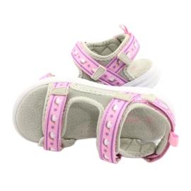 American Club Sandale. Branț din piele american RL39 / 21 violet roz gri 3