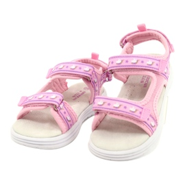 American Club Sandale roz. Branț din piele violet 2