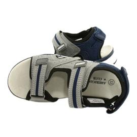 American Club Sandale băieți ES33 / 21 Gri albastru marin 3