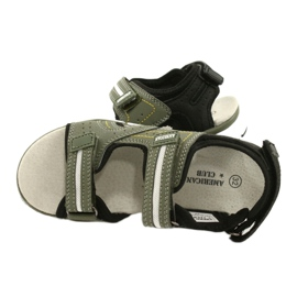 American Club Sandale băieți ES33 / 21 Kaki negru 4