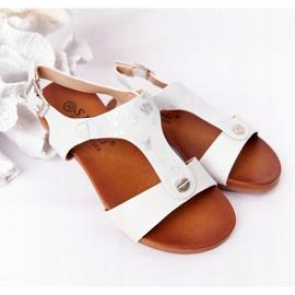 S.Barski Sandale pentru copii S. Barski Comfort Silver argint 1