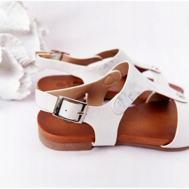 S.Barski Sandale pentru copii S. Barski Comfort Silver argint 4