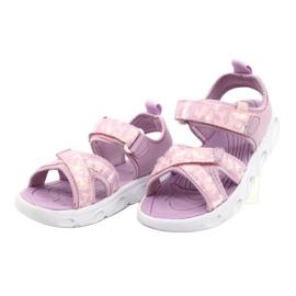 Sandale ușoare la modă Moro Sport RL30 / 21 American Club alb violet roz 1