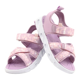 Sandale ușoare la modă Moro Sport RL30 / 21 American Club alb violet roz 2
