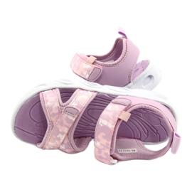 Sandale ușoare la modă Moro Sport RL30 / 21 American Club alb violet roz 3
