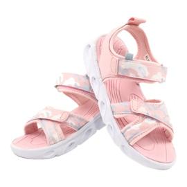 Sandale ușoare la modă Moro Sport RL30 / 21 American Club alb roz gri 3