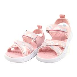 Sandale ușoare la modă Moro Sport RL30 / 21 American Club alb roz gri 1