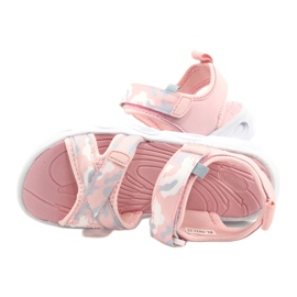 Sandale ușoare la modă Moro Sport RL30 / 21 American Club alb roz gri 4