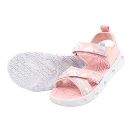 Sandale ușoare la modă Moro Sport RL30 / 21 American Club alb roz gri 2