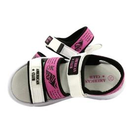 American Club Sandale sport Insert din piele RL29 / 21 Black-Fuxia alb negru roz 4
