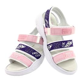 American Club Sandale sport Insert din piele RL29 / 21 Roz-Violet alb 3