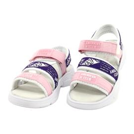 American Club Sandale sport Insert din piele RL29 / 21 Roz-Violet alb 1