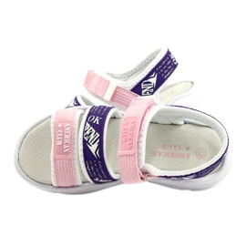 American Club Sandale sport Insert din piele RL29 / 21 Roz-Violet alb 4