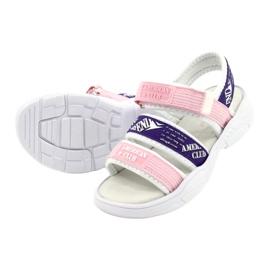 American Club Sandale sport Insert din piele RL29 / 21 Roz-Violet alb 2