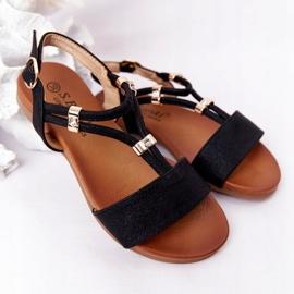 S.Barski Sandale pentru copii S. Bararski Comfort Black negru 1