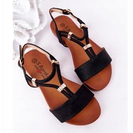 S.Barski Sandale pentru copii S. Bararski Comfort Black negru 2