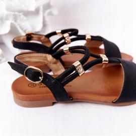 S.Barski Sandale pentru copii S. Bararski Comfort Black negru 6