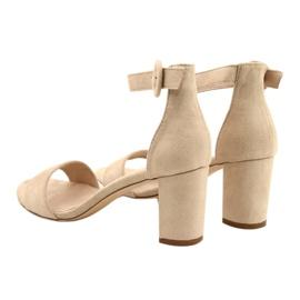 Sandale pe toc Beige Evento 20SD98-1617 bej 3